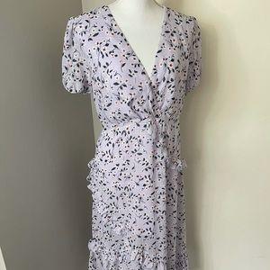 Lulus lavender ruffle dress SZlarge